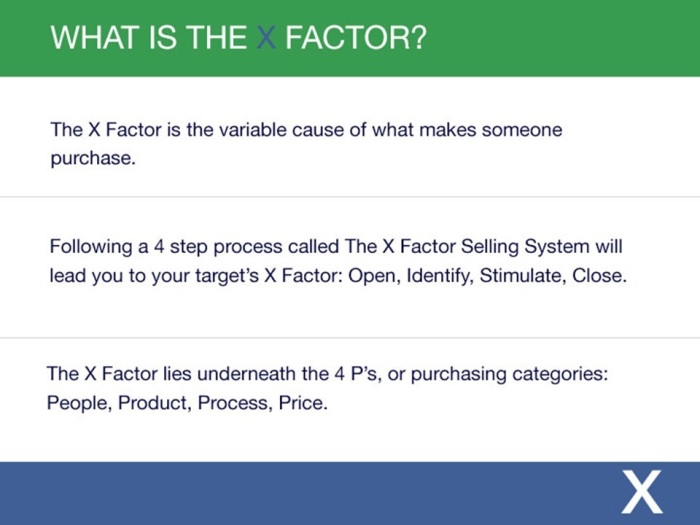 what is the x factor