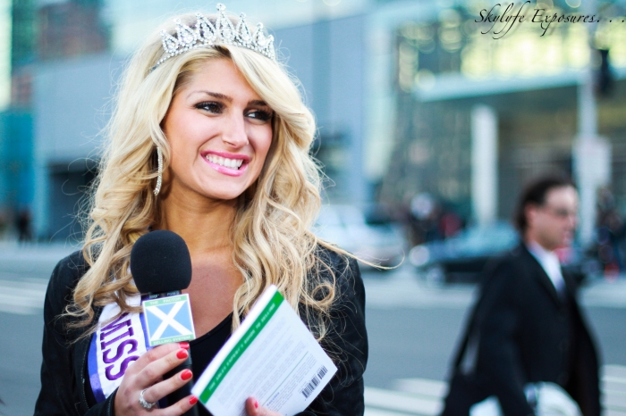 Miss Philadelphia in NYC with the X Factor Selling Systems book
