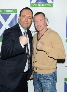 Thomas F. La Vecchia and Micky Ward at the X Factor Selling System book launch event.